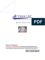 2010 Action Baseball manual