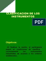 3 Clasificación de los instrumentos
