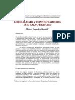 Liberalismo y comunitarismo. ¿Un falso debate? - Autor