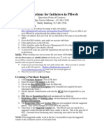 Instructions for Initiators in PRweb