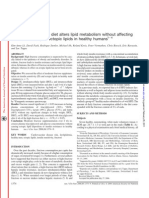 A 4-wk high-fructose diet alters lipid metabolism without affecting