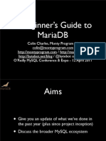 A Beginner's Guide to MariaDB Presentation