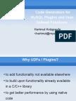 A Code Stub Generator for MySQL and Drizzle Plugins Presentation