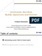 Automated, Non-Stop MySQL Operations and Failover Presentation