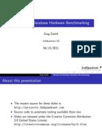 Bottom-Up Database Benchmarking