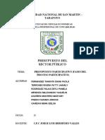 GRUPO 3.   PRESUPUESTO PARTICIPATIVO (FASES DEL PROCESO PARTICIPATIVO)
