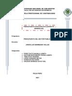 GRUPO 2. PRESUPUESTO PARTICIPATIVO (ASPECTO GENERALES)