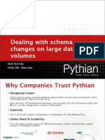Dealing With Schema Changes on Large Data Volumes