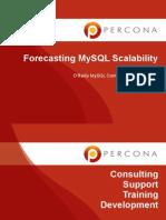Forecasting MySQL Performance and Scalability