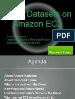 Large Datasets in MySQL on Amazon EC2