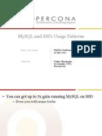 MySQL and SSD