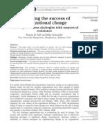 Enhancing the Success of Organizational Change