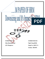 term paper of hrm down sizing 48