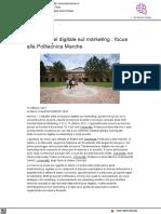 L'impatto del digitale sul marketing - Cronache Marche.it, 12 ottobre 2021