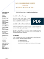 2011 Application Package