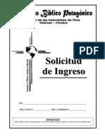 IBP - SOLICITUD DE INGRESO