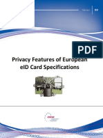 Privacy features of European eID card specifications