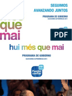 Programa Electoral PPCV 2011-2015