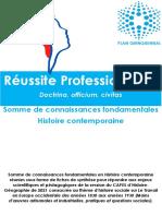CONTEMPORAINE - SOMME DE CONNAISSANCES FONDAMENTALES