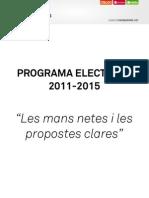 Programa electoral Compromís 2011-2015