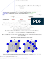 concours Agrégation 2005 _ le fer _ structures cristallines ; oxydes de fer