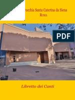 Libro de Canto Parroquia Santa Catarina - Italia