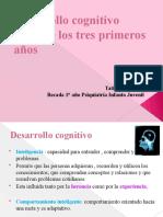 Desarrollo cognitivo durante los tres primeros años