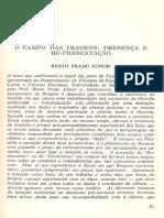 1965 - O Campo das Imagens - Presença e Representação