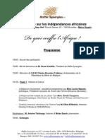 Table ronde sur les indépendances africaines