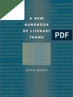 A New Handbook of Literary Terms