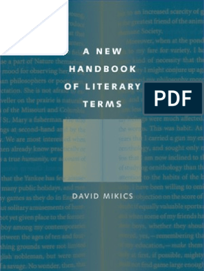 A New Handbook of Literary Terms | Analytic Philosophy | Logic