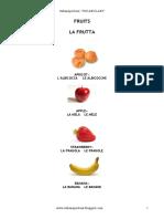 LESSICO- FRUITS