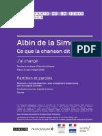 ALBIN de la SIMONE - Jai Change