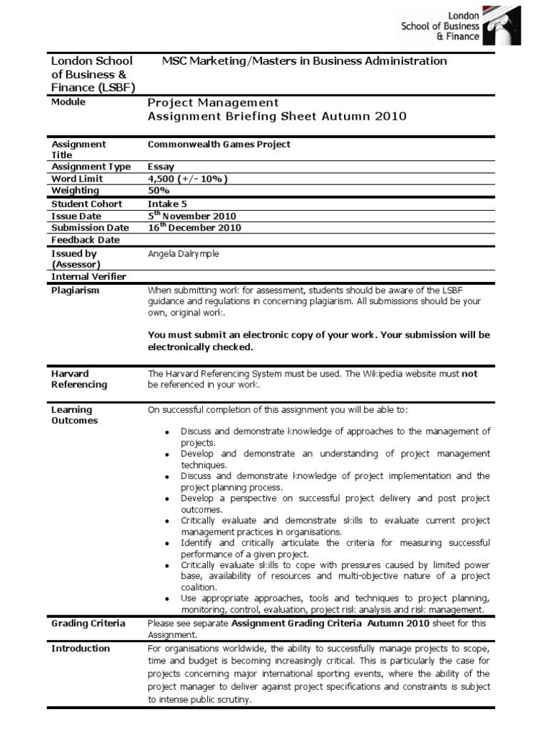 Pm  Coursework  Autumn   Project Management  Educational  Pm  Coursework  Autumn   Project Management  Educational Assessment