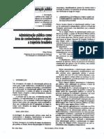 FISCHER, Tânia.Administração Pública como área de conhecimo e ensino -  A trajetória brasileira