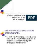 évaluation &  recrutement