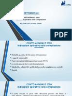 Conto annuale 2020 - Indicazioni operative nella compilazione