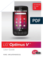 LG Optimus V Manual