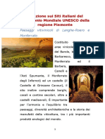 Relazione Sui Siti Italiani Del Patrimonio Mondiale UNESCO Della Regione Piemonte