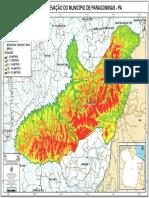 MAPA DE ELEVAÇÃO DO MUNICÍPIO DE PARAGOMINAS - PA