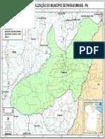 MAPA DE LOCALIZAÇÃO DO MUNICÍPIO DE PARAGOMINAS - PA