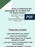 Rosario Fernandez - Características y condiciones del aprendizaje de los adultos