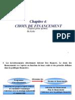 Chapitre 4 - Décision de financement