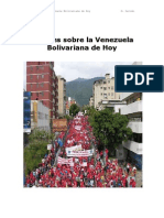 Apuntes sobre la Venezuela Bolivariana de Hoy