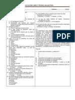 Evaluación- Libro y Técnica de lectura