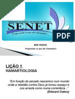 Lição 1 - HAMARTIOLOGIA - Pág 5 até 14