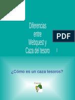 Diferencias Entre Caza Tesoros y Webquest