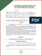 Contrato de Opção de Compra de Quotas de Sociedade de Responsabilidade Limitada