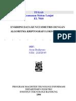 Enkripsi Data Kunci Simetris Dengan Algoritma Kriptografi LOKI97