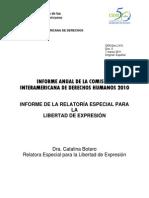 Informe Anual  2010 de la Relatoría para la Libertad de Expresión